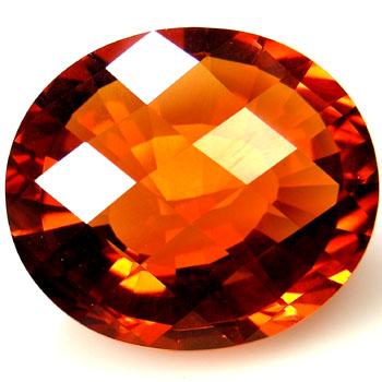 Citrin Oval orange