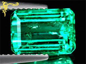 Oktagon Smaragd im Stufenschliff