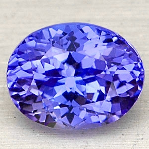 Edelstein Tansanit oval in violettblau